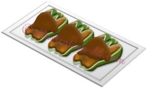 ピーマンの肉詰めのイラスト