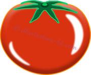 可愛いトマトのイラスト