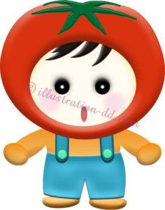 トマトのキャラクター・男の子のイラスト