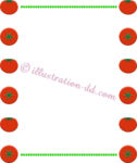 ポップなトマトの飾り枠
