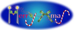「Merry Xmas」の飾り文字イラスト