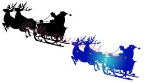 サンタの橇のシルエット