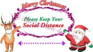 Please Keep Your Social Distance|COVID-19 Xmas