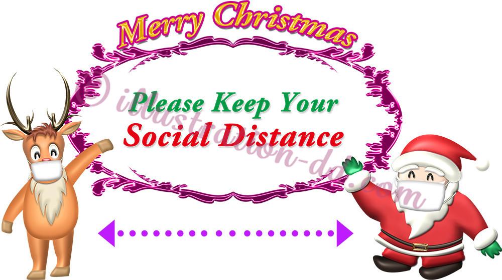 Please Keep Your Social Distance COVID-19 Xmas