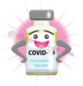 新型コロナ・ワクチンの擬人化イラスト