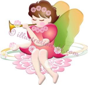 春の妖精のイラスト