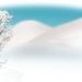雪景色・楕円タイプ