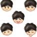 男の子の顔・表情イラスト集