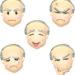 おじいさんの顔・表情のイラスト集