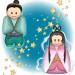 織姫彦星の天の川伝説のイラスト