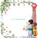 笹や灯籠の飾り枠
