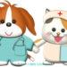 ワンコとニャンコの看護師さんイラスト